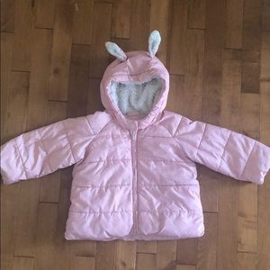 Gap baby girl winter puffer jacket sz 18-24 pink